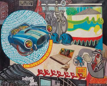 """Marc Ferrero, '""""La Comitive escape from numbers""""', 2018"""