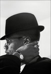 Eve Arnold, 'Malcolm X during his visit to enterprises owned by Black Muslims. Chicago, Illinois. USA. ', 1962