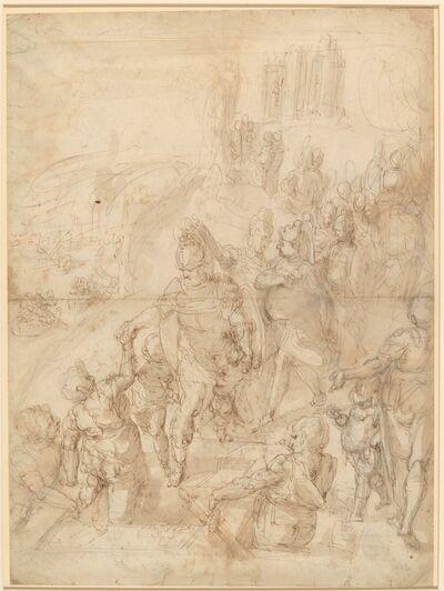 Giulio Benso, 'Scene from Classical History (Aeneas Descending into the Underworld?)'
