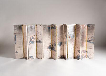 """Nancy Lorenz, '""""Rock Garden and Dragon"""" Contemporary Multipanel Screen', 2011"""