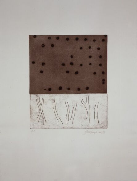 "Julião Sarmento, 'Untitled (from the portfolio ""The Frozen Leopard"" I)', 1992"