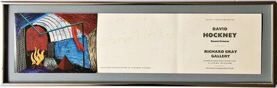 """David Hockney, 'David Hockney: Recent Pictures, Hand signed and inscribed """"for Ken"""" by David Hockney', 1992"""