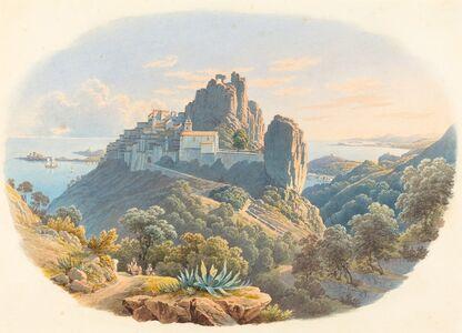 Matthias Gabriel Lory fils, 'Le Château d'Eze, pres de Nice', 1841/1843