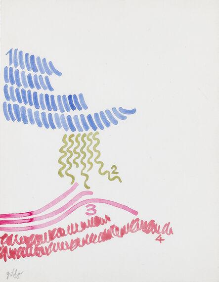 Giorgio Griffa, 'Quattro segni', 2002-03