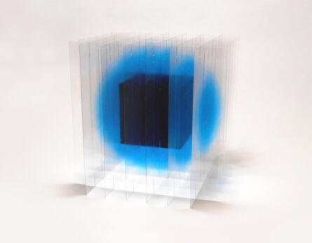 Go Segawa, 'Black_Cube_in_Blue', 2021