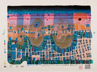 Friedensreich Hundertwasser, 'Town in Town', 1979