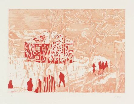 Peter Doig, 'Red House from Ten Etchings ', 1996