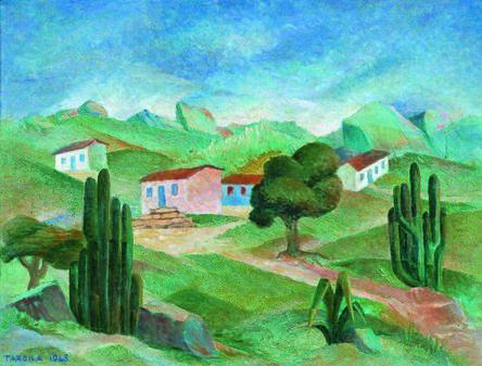 Tarsila do Amaral, 'Paisagem', 1948