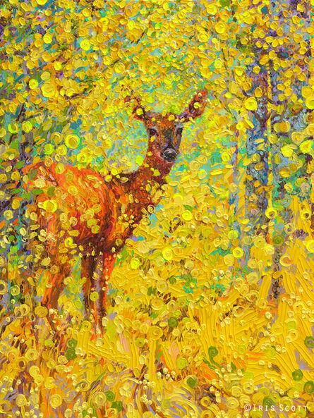 Iris Scott, 'Whitetail Deer (Embellished Artist's Proof)', 2018
