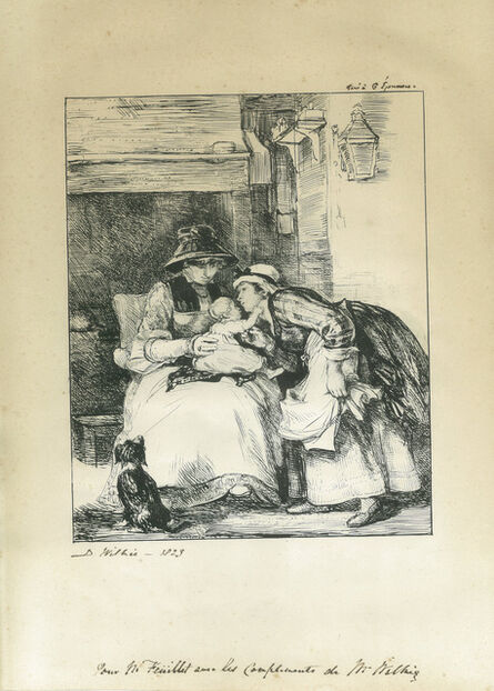 Sir David Wilkie, 'Kissing the Child ', 1823