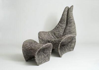 Ayala Serfaty, 'Daura & Justo, Armchair and Footrest by Ayala Serfaty', Israel-2017