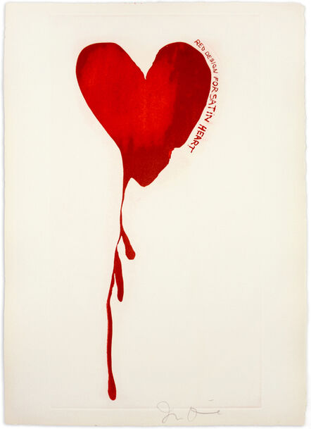 """Jim Dine, 'Red Design for Satin Heart from """"The Picture of Dorian Grey""""', 1968"""