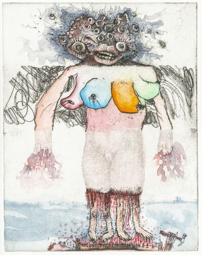 Jake & Dinos Chapman, 'MULTI-COLORED FOUR BOOBED MONSTER I', 2000