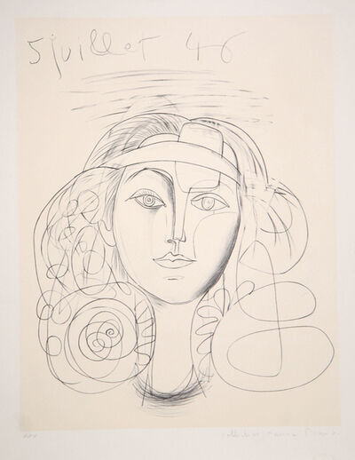 Pablo Picasso, 'Portrait de Femme. 1946', 1979-1982