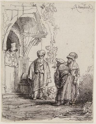 "Rembrandt van Rijn, 'THREE ORIENTAL FIGURES (also known as ""Jacob and Laban"")', 1641"