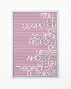 Maynard Monrow, 'Untitled / Theoretical Dilemmas', 2016