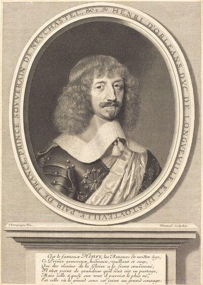 Robert Nanteuil after Philippe de Champaigne, 'Henri II d'Orléans, Duc de Longueville', 1655