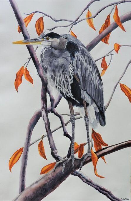 Carol Dawson, 'Out on a Limb: Great Blue Heron', 2020