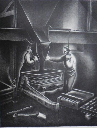 """Minetta Good, '""""Green Sand Molding, Taylor Wharton Iron and Steel Co.""""', 1937"""