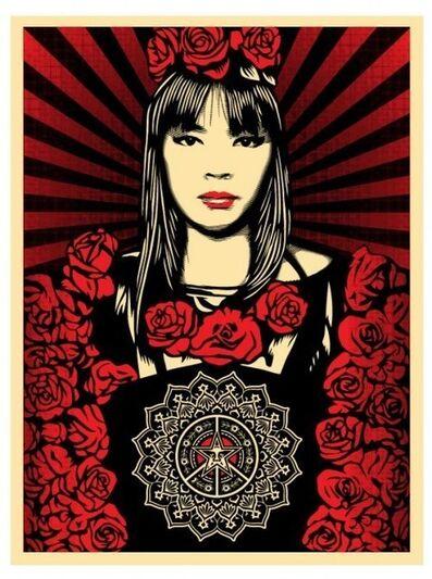 Shepard Fairey, 'Rose Girl', 2008