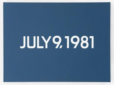 On Kawara, 'July 9, 1981', 1981