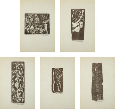 Max Weber, 'Five Prints by Max Weber', 1956