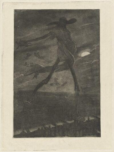 Félicien Rops, 'Satan Sowing Tare (Satan semant l'ivraie)'