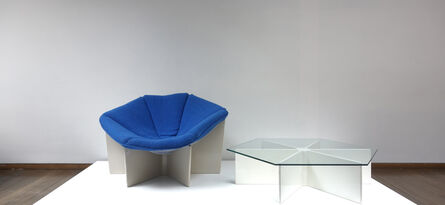 """Pierre Paulin (1927-2009), '""""Spider"""" or """"Gossamer"""" armchair and """"Spider"""" table', ca. 1960"""