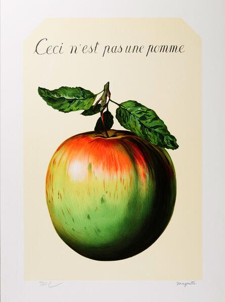 René Magritte, 'Ceci n'est pas une pomme (This is not an apple)', 2010