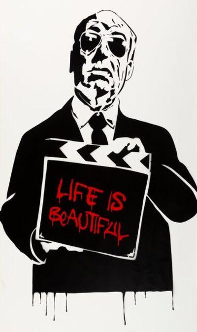 Mr. Brainwash, 'Alfred Hitchcock (Life is Beautiful)', 2008