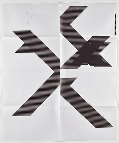 "Wade Guyton, 'X Poster (Untitled, 2007, Epson UltraChrome inkjet on linen, 84x69"", WG1210), 2018', 2018"