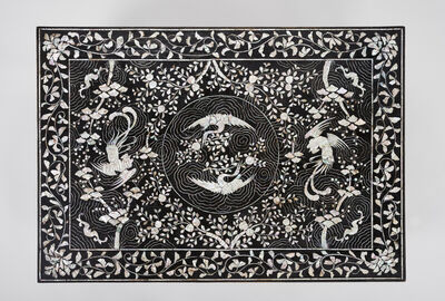 Unknown Artist, 'Table with phoenix, crane, and peach motif', 1800-1900