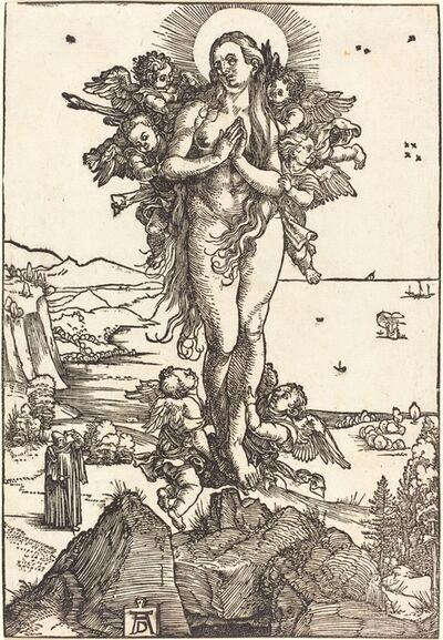 Albrecht Dürer, 'The Elevation of Saint Mary Magdalene', ca. 1504/1505