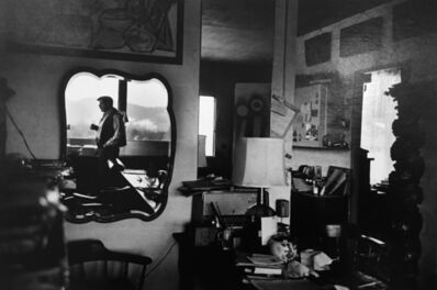 Dan Budnik, 'David Smith mirrored in his living room, Terminal Iron Works, Bolton Landing NY', 1962