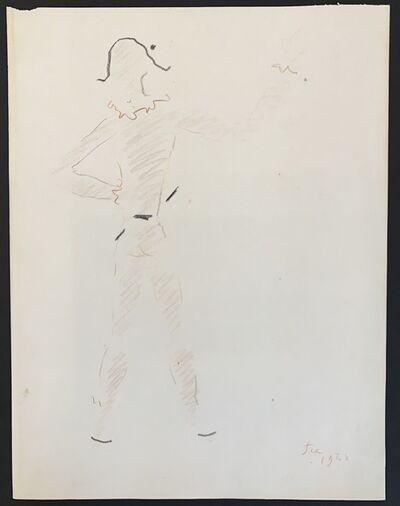 Jean Cocteau, 'Un arlequin vu de dos (A harlequin seen from the back)', 1954