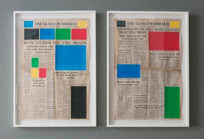 Marine Hugonnier, 'Art For Modern Architecture (Glasgow Herald – Moon Landing – 21/07/69 Glasgow Herald – Moon Departing – 22/07/69)', 2018