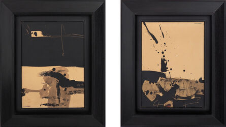 Manolo Millares, 'Mutilados de paz (díptico)', 1966