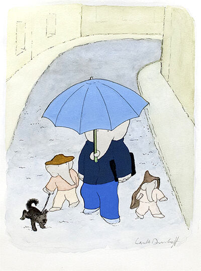 """Laurent de Brunhoff, '""""Despite its good reputation, the weather in Paris can be rainy, chilly, and windy."""", published in Babar's Guide to Paris', 2017"""