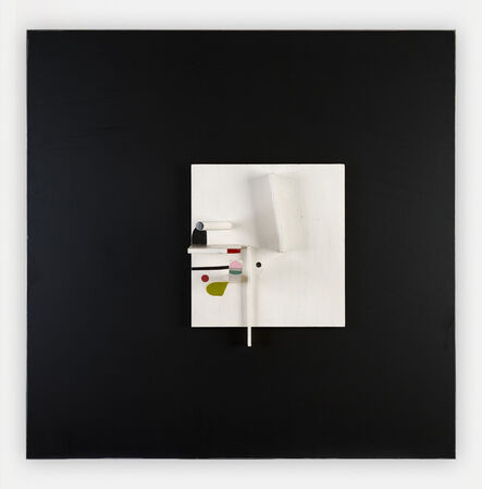 Victor Pasmore, 'Projective Relief Painting in White and Black with Pink, Green and Maroon', 1982