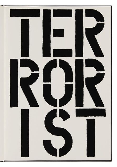 Christopher Wool, 'Terrorist (page from Black Book) ', 1989