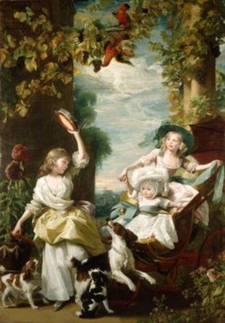 John Singleton Copley, 'The Three Youngest Daughters of George III', 1785