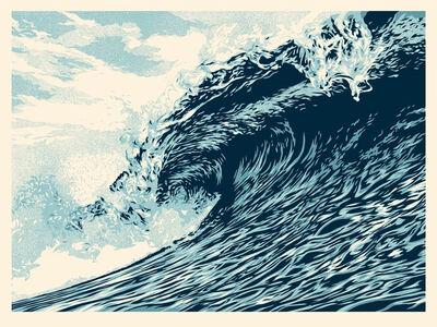 Shepard Fairey, 'Wave of Distress - Blue Edition', 2021