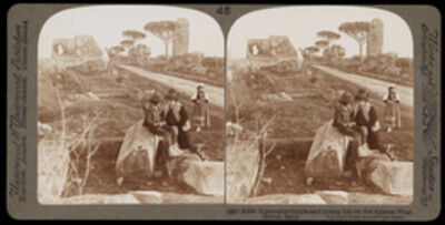 Bert Underwood, 'Venerable tombs and young life on the Appian Way', 1900