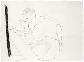 David Hockney, 'Celia Adjusting her Eyelash', 1979