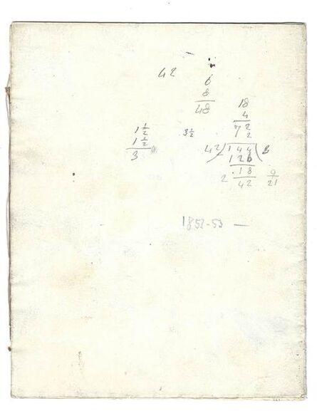 James Abbott McNeill Whistler, 'Sketchbook', ca. 1853