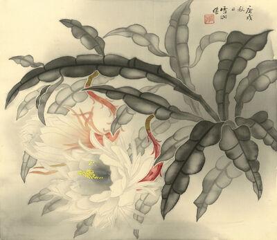 Kuo Hsueh-Hu 郭雪湖, 'Night Blooming Cannas', 1950