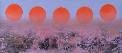Liu Kuo-sung 刘国松, 'Summer's un-setting Sun 夏日不落', 2014