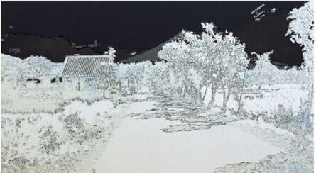 Eveline Boulva, 'Agung; geographie des cendres I', 2011