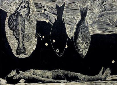 Ahmad Saber, 'Man with Fish II', 2019