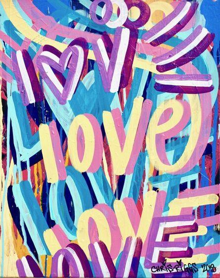 CHRIS RIGGS, 'Love Canvas 4', 2018
